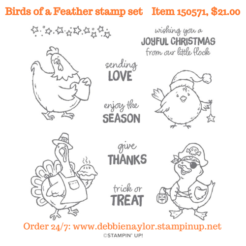 Unfrogettable Stamping | Birds of a Feather cling stamp set by Stampin' Up!