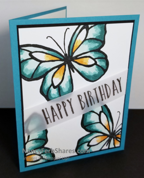Unfrogettable Stamping | CASE'ing Nancy Ferb's card