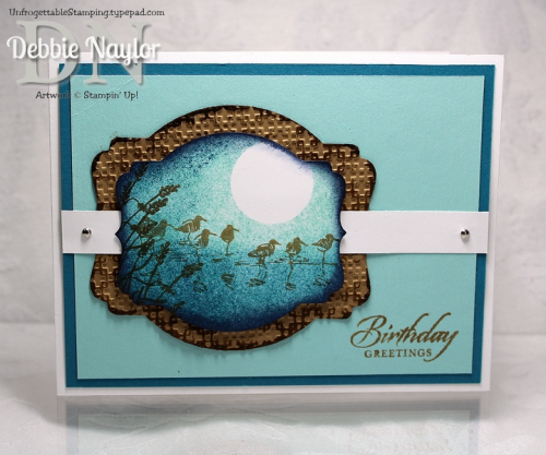 Unfrogettable Stamping Fabulous Friday Wetlands masculine birthday card
