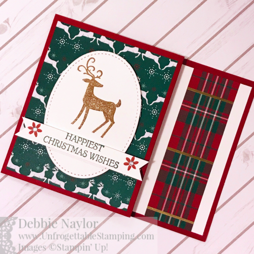 Unfrogettable Stamping Fabulous Friday Dashing Deer gift card holder5