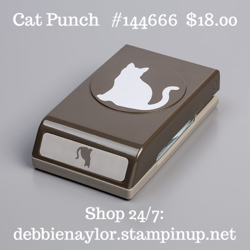 Unfrogettable Stamping | Cat punch by Stampin' Up!