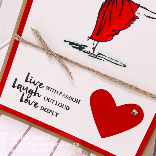 Unfrogettable Stamping | Fabulous Friday Wear Red for Women Day card featuring the Beautiful You stamp set from Stampin' Up!