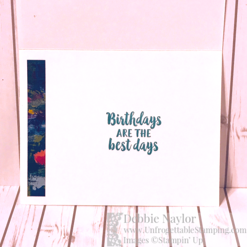 Unfrogettable Stamping | Fabulous Friday birthday card featuring the Lily Impressions DSP Sale-a-Bration selection from Stampin' Up!