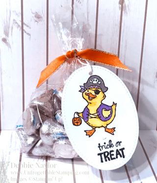Unfrogettable Stamping Fabulous Friday Trick or Tweet Halloween favor