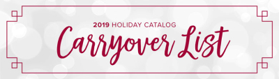 Unfrogettable Stamping | Stampin' Up! 2019 Holiday Catalog Carryover List