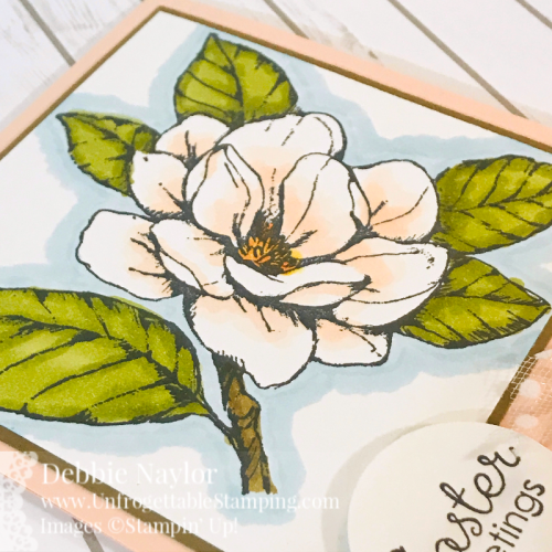 Unforgettable Stamping | Fabulous Friday Easter card featuring the Good Morning Magnolia stamp set by Stampin' Up!