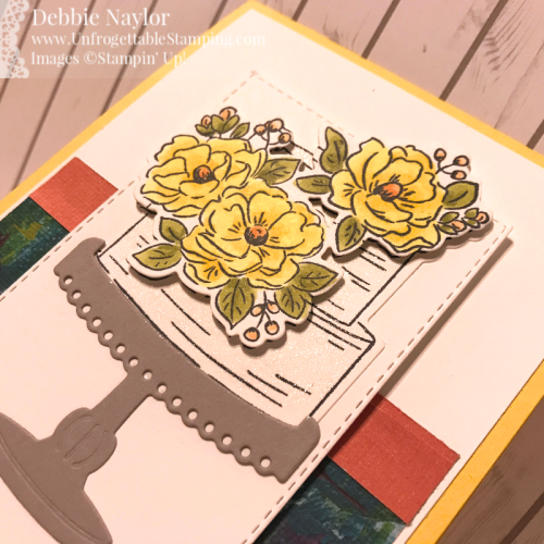 Unfrogettable Stamping | March 2020 Stampers Dozen Blog Hop SAB birthday card featuring the Happy  Birthday to You stamp set and Lily Impressions DSP by Stampin' Up!