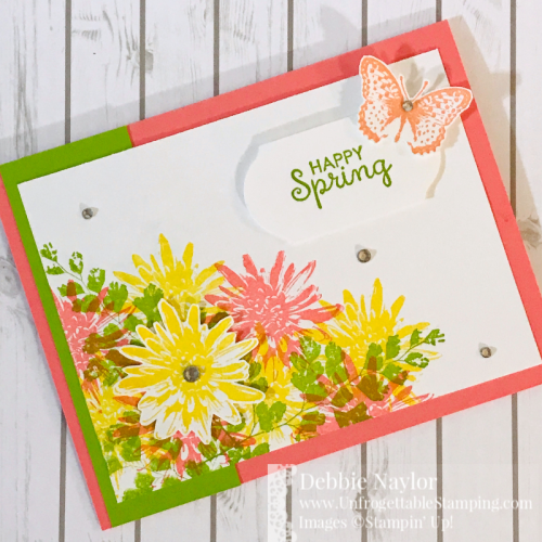 Unfrogettable Stamping | April 2020 Stampers Dozen Blog Hop Spring card featuring the Positive Thoughts stamp set by Stampin' Up!