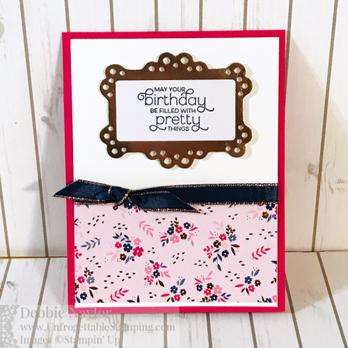 Unfrogettable Stamping | Fabulous Friday One Sheet Wonder cards featuring the Everything is Rosy Product Medley from Stampin' Up!