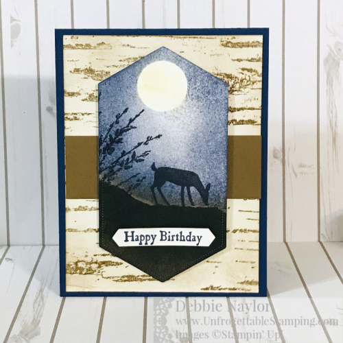 Unfrogettable Stamping | Fabulous Friday masculine birthday card featuring the retiring Country Road and Dashing Deer stamp sets by Stampin' Up!
