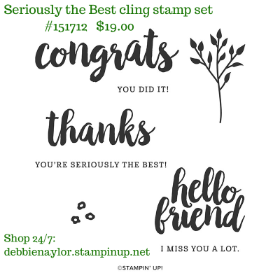 Unfrogettable Stamping | Seriously the Best cling stamp set by Stampin' Up!