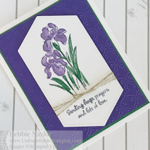 Unfrogettable Stamping | Fabulous Friday sympathy card featuring the Inspiring Iris stamp set by Stampin' Up!