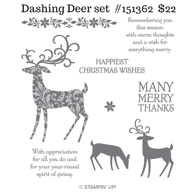 Dashing Deer stamp set