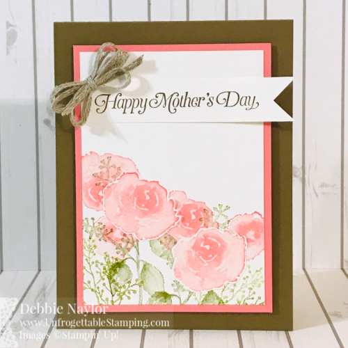 Unforgettable Stamping | Fabulous Friday Mothers Day card featuring the First Frost and Strong & Beautiful stamp sets by Stampin' Up!