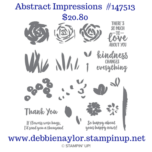 Unfrogettable Stamping | Last Chance product Abstract Impressions stamp set on sale now from Stampin' Up!