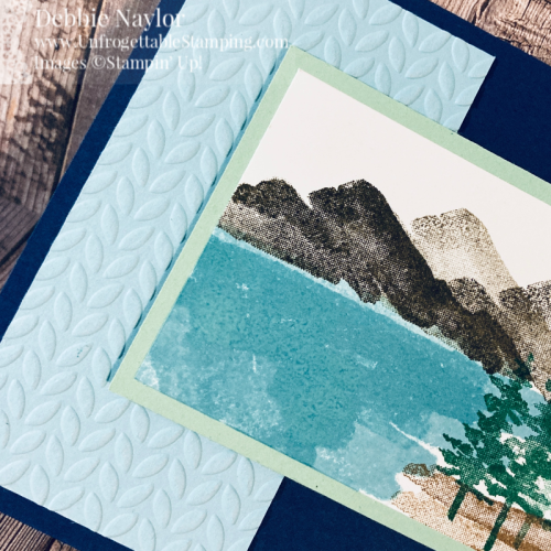 Unfrogettable Stamping | Fabulous Friday masculine birthday card featuring the Waterfront and Itty  Bitty Birthday stamp sets and Greenery Embossing folders from Stampin' Up!