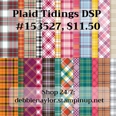 Unfrogettable Stamping | Plaid Tidings DSP from Stampin' Up!