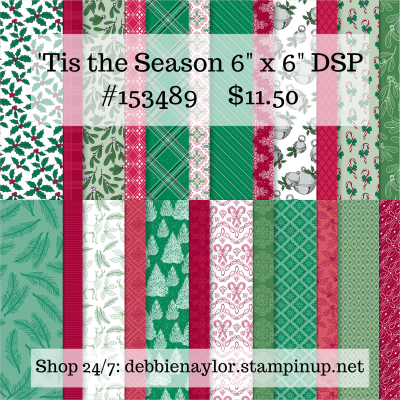 "Unfrogettable Stamping | 'Tis the Season 6"" x 6"" DSP from Stampin' Up!"