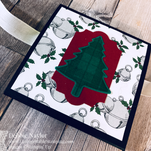 Unfrogettable Stamping | Countdown to Christmas 2020 Day 5 Notepad featuring the 'Tis the Season DSP and Plaid Tidings stamp set from Stampin' Up!