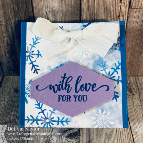 Unfrogettable Stamping | Stampers Dozen December 2020 Holiday gift set featuring the Snowflake Splendor DSP from Stampin' Up!