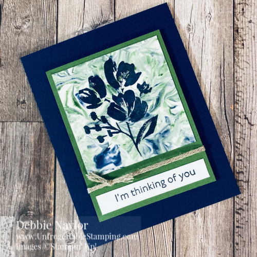 Unfrogettable Stamping | Sunday Fun Day Shaving Cream technique card set featuring the Art Gallery stamp set from Stampin' Up!