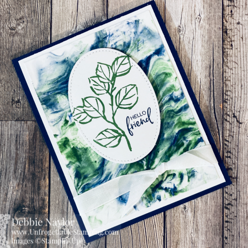 Unfrogettable Stamping | Sunday Fun Day Shaving Cream technique card set featuring the A Touch of Ink (SAB) stamp set and Stiched Shapes dies from Stampin' Up!