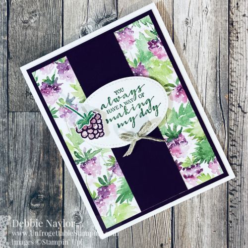 Unfrogettable Stamping | Sunday Fun Day card featuring the Sale-A-Bration Level 2  Berrry Blessings bundle from Stampin' Up!