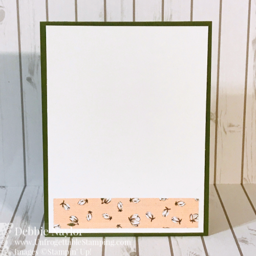 Unfrogettable Stamping | Fabulous Friday Watercolred Quick and Easy card featuring the retiring Magnolia Lane DSP, This Little Piggy stamp set and Aqua Painters from Stampin' Up!