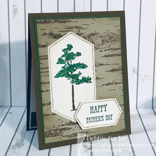 Unfrogettable Stamping | Fabulous Friday Fathers Day Card featuring the Rooted in Nature and Birch stamp sets, and Stitched Nested Label dies from Stampin' Up!