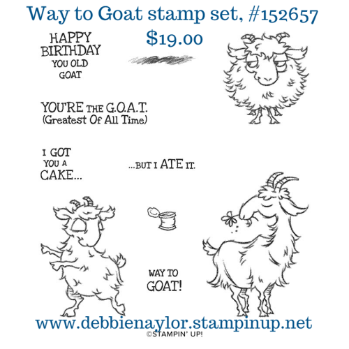 Unfrogettable Stamping | Way to Goat stamp set from Stampin' Up!