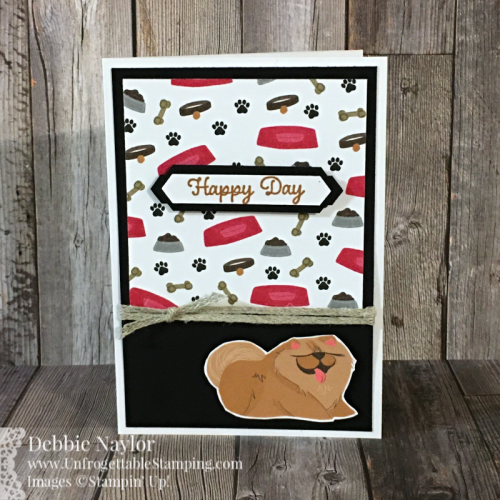 Unfrogettable Stamping | Fabulous Friday birthday note card set featuring the Playful Pets DSP, Itty Bitty Birthday stamp set, Label Me Lovely and Classic Label punches by Stampin' Up!