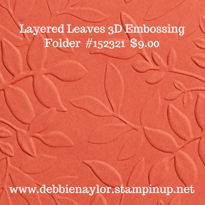 Unfrogettable Stamping | Layered Leaves 3D embossing folder from Stampin' Up!