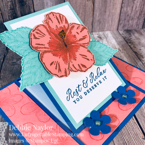 Unfrogettable Stamping | Fabulous Friday Color Combo easel birthday card featuring the Timeless Tropical stamp set from Stampin' Up!