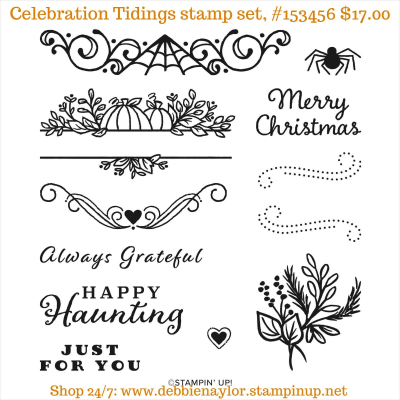 Unfrogettable Stamping | Celebration Tidings stamp set from Stampin' Up!