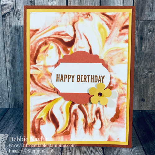 Unfrogettable Stamping | Fabulous Friday birthday card featuring the Shaving Cream technique and the Itty Bitty Birthdays stamp set from Stampin' Up!