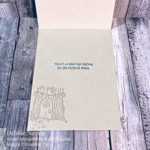 Unfrogettable Stamping | Countdown to Christmas 2020 Day 2 QE Christmas card featuring the Gnome for Christmas stamp set and Snowflake Splendor DSP from Stampin' Up!