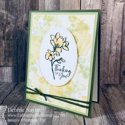 Unfrogettable Stamping | Sunday Fun Day SAB card featuring the A Touch of Ink Level 2 A Touch of Ink stamp set from Stampin' Up!