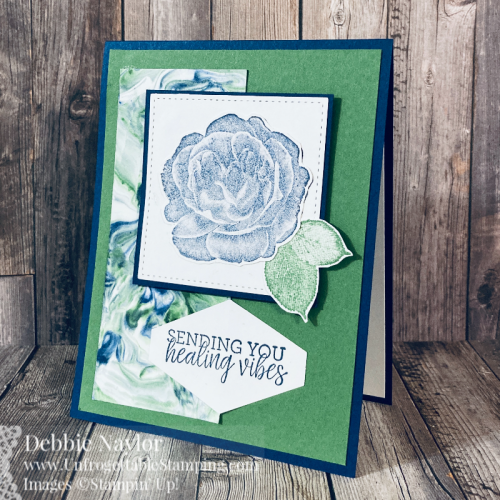 Unfrogettable Stamping | Sunday Fun Day Shaving Cream technique card set featuring the Healing Hugs stamp set, Stitched Shapes dies and Tailored Tag punch from Stampin' Up!