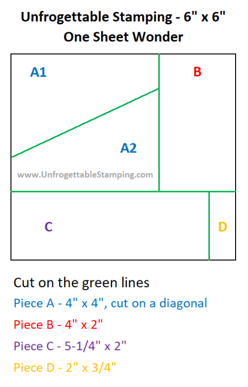 Unfrogrettable Stamping | 6x6 One Sheet Wonder cutting template