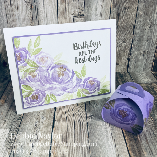 Unfrogettable Stamping | March 2021 Stampers Dozen Blog Hop Birthday Card and Favor featuring the Beautiful Friendship stamp set and Mini Curvy Keepsakes Box dies from Stampin' Up!