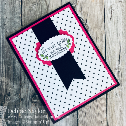Unfrogettable Stamping | Sunday Fun Day thank you card featuring the Oval Occasions bundle from Stampin' Up!