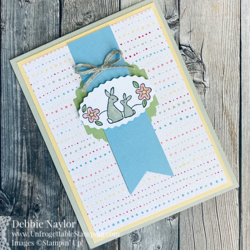 Unfrogettable Stamping | Sunday Fun Day Spring card featuring the Oval Occasions bundle from Stampin' Up!