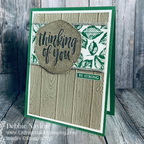 Unfrogettable Stamping | Sunday Fun Day: Card set created with the retiring Rooted In Nature stamp set and Pinewood Planks 3D embossing folder from Stampin' Up