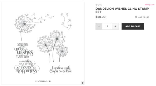 Unfrogettable Stamping  Dandelion Wishes stamp set from Stampin' Up!