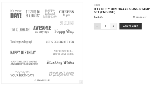 Unfrogettable Stamping | Itty Bitty Birthdays from Stampin' Up!