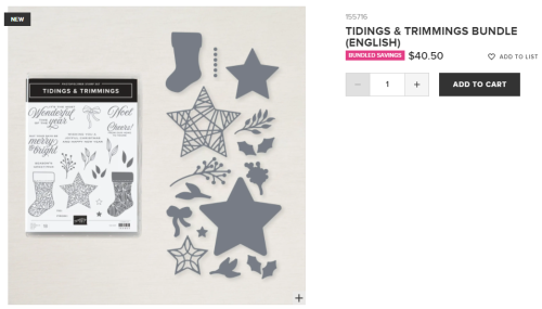 Unfrogettable Stamping | idings and Trimmings bundle from Stampin' Up!