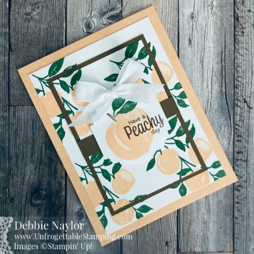 Unfrogettable Stamping | Sunday Fun Day card featuring the Sweet as a Peach stamp set from Stampin' Up!