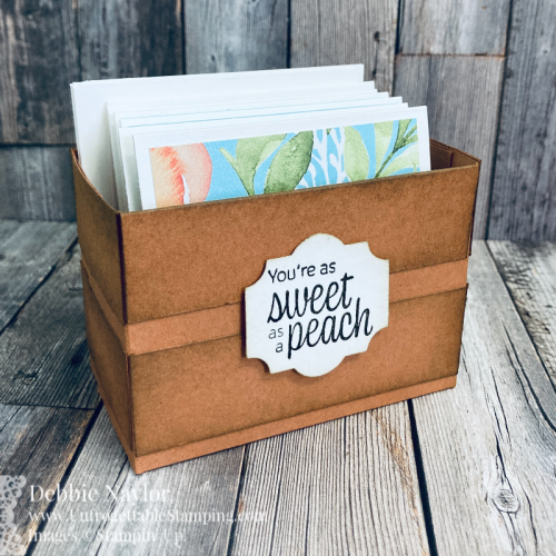 Unfrogettable Stamping | July 2021 Stampers Dozen Blog Hop Sweet Summertime mini card set project featuring the You're a Peach product suite from Stampin' Up!