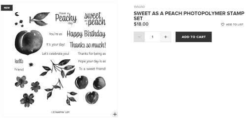 Unfrogettable Stamping | Sweet as a Peach stamp set from Stampin' Up!
