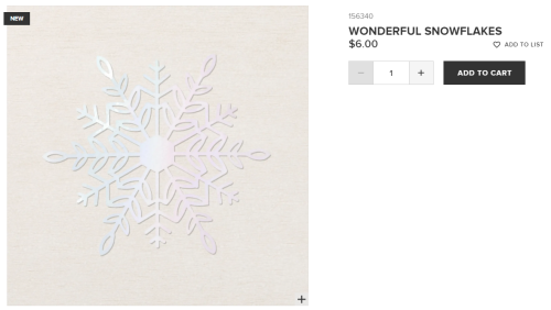 Unfrogettable Stamping | Wonderful Snowflakes embellishments from Stampin' Up!